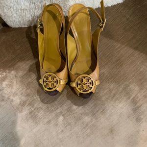 Tory Burch yellow shoes